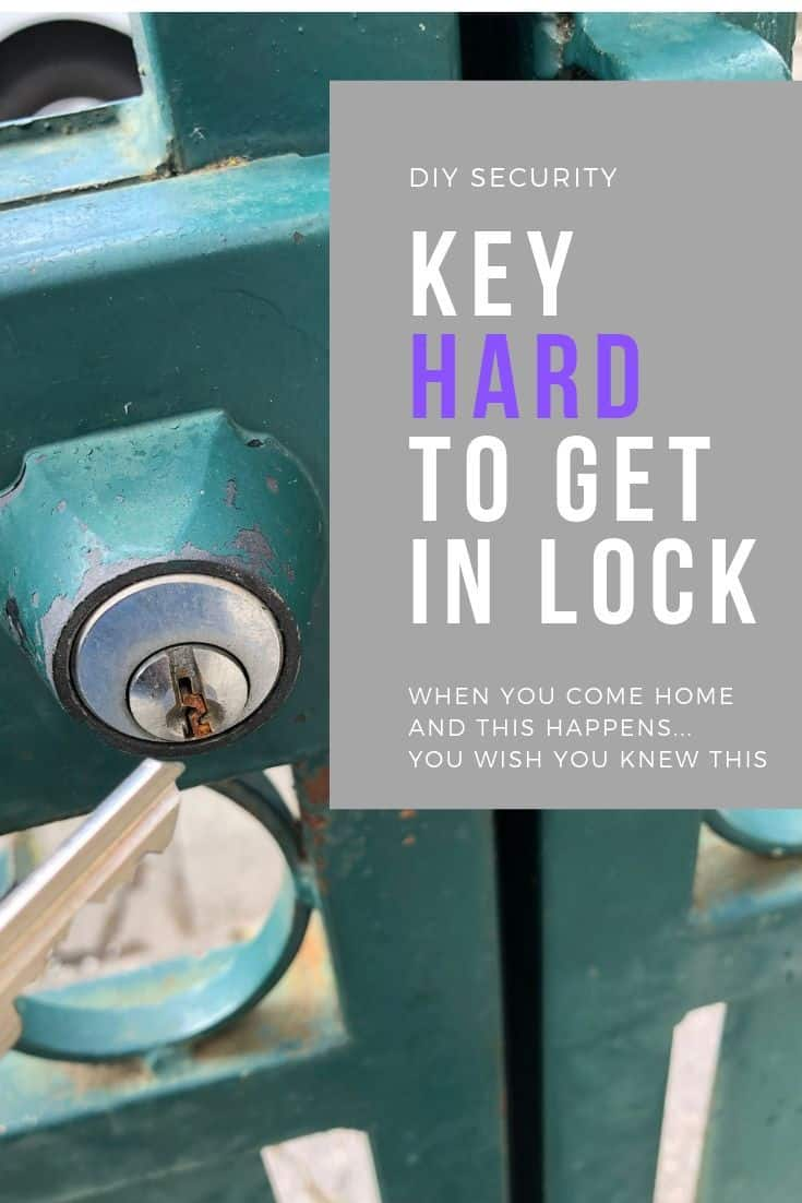 How to insert a key in a lock when it is hard and you really need to get back home.