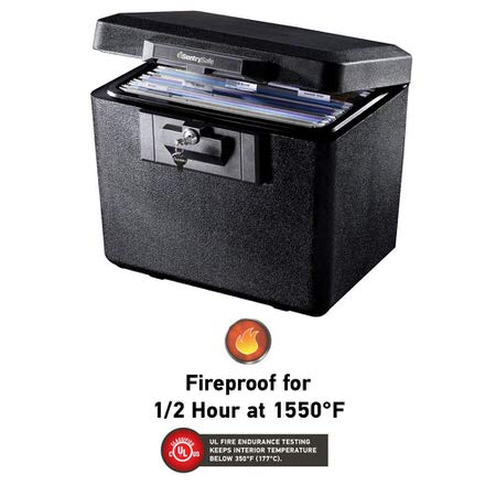 Sentry Safe fireproof box for your home safe